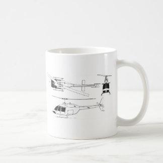 Guardabosques/TH del jet de Bell Taza Básica Blanca