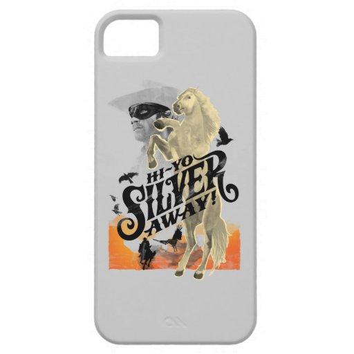 ¡Guardabosques y plata solitarios - hola - plata d iPhone 5 Carcasas