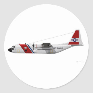 Guardacostas de Lockheed HC-130 Hércules Pegatina Redonda