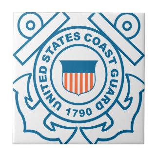 Guardacostas de los E.E.U.U. Azulejo Cuadrado Pequeño