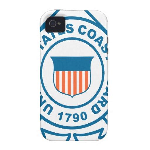 Guardacostas de los E.E.U.U. iPhone 4/4S Fundas