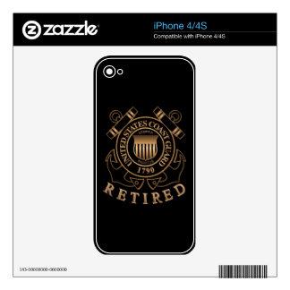 Guardacostas jubilado skins para iPhone 4S
