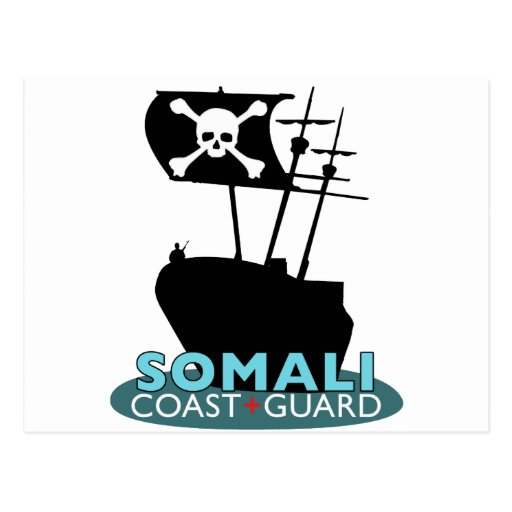 Guardacostas somalí tarjeta postal