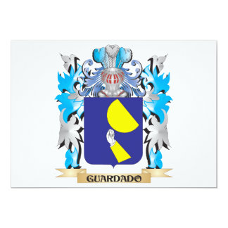 Guardado Coat of Arms - Family Crest 5x7 Paper Invitation Card