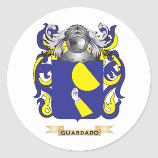 Guardado Coat of Arms (Family Crest) Classic Round Sticker