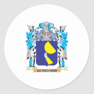Guardado Coat of Arms - Family Crest Classic Round Sticker