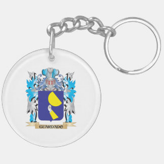 Guardado Coat of Arms - Family Crest Double-Sided Round Acrylic Keychain