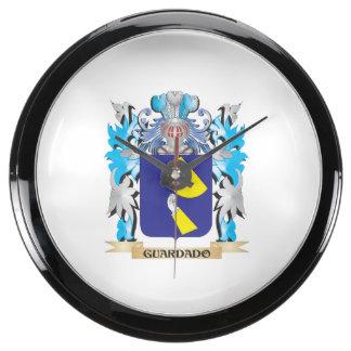 Guardado Coat of Arms - Family Crest Fish Tank Clock