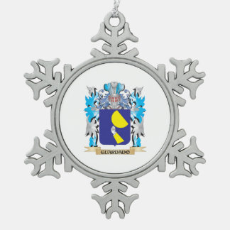 Guardado Coat of Arms - Family Crest Snowflake Pewter Christmas Ornament