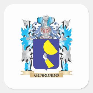 Guardado Coat of Arms - Family Crest Square Sticker