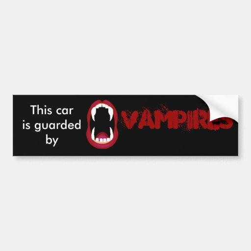 Guardado por los vampiros pegatina de parachoque