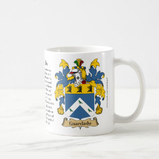 Guardado, the Origin, the Meaning and the Crest Classic White Coffee Mug