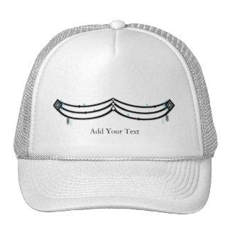 Guardamalleta del diamante en negro y aguamarina gorras de camionero