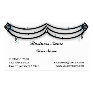 Guardamalleta del diamante en negro y tarjeta de v plantillas de tarjeta de negocio