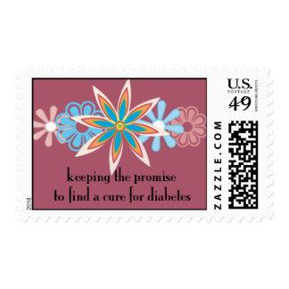 guardando la promesa (con el fondo rojo) sello postal