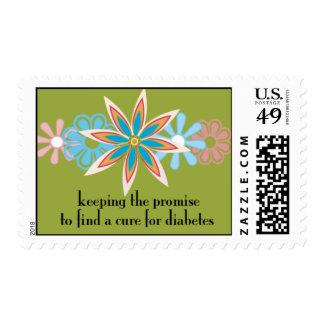 guardando la promesa (con el fondo verde) sello postal