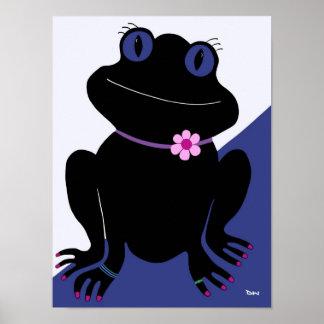 Guardándolo chica del Froggy Poster