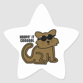 Guardándolo Cooool Calcomanías Forma De Estrella Personalizadas