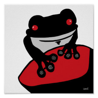 Guardándolo Froggy Posters