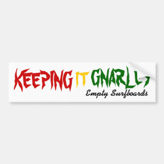Guardándolo Gnarley Pegatina Para Auto
