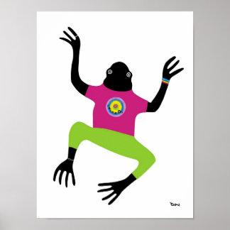 Guardándolo hombre del Froggy Poster