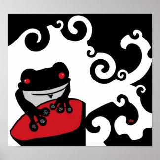 Guardándolo hombre del Froggy Posters