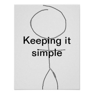 guardándolo postar simple póster
