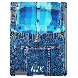 Guardapolvos de Jean del dril de algodón y camisa  Funda Para iPad