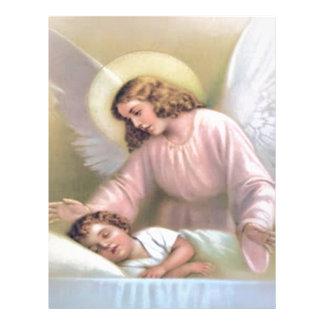 Guardar el ángel de niños, vintage, reproducción, plantilla de membrete