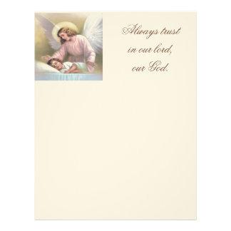 Guardar el ángel de niños, vintage, reproducción, membrete
