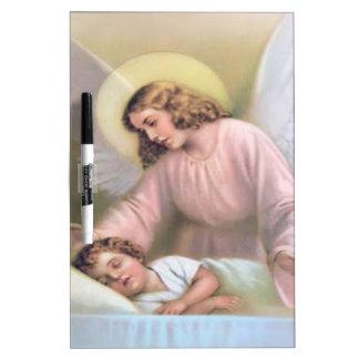 Guardar el ángel de niños, vintage, reproducción, tableros blancos