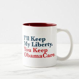 Guardaré mi libertad. Usted guarda su ObamaCare Taza De Café