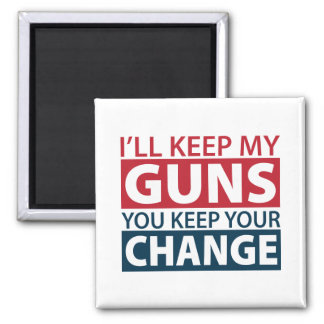 Guardaré mis armas, usted guardo su cambio imán