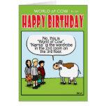 Guardarropa incorrecto tarjeta de felicitación