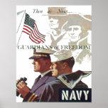 Guardas de la marina de guerra del poster de la li