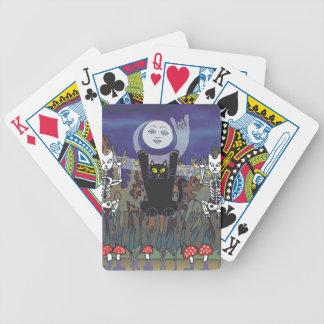 Guardas de un bosque frecuentado baraja cartas de poker