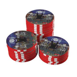 Guardas de un bosque frecuentado juego de fichas de póquer