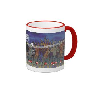 Guardas de un bosque frecuentado tazas de café