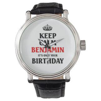 Guarde a Benjamin tranquilo su solamente su Relojes De Pulsera