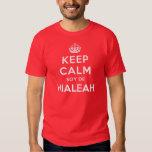 Guarde a Calm Soy De Hialeah Camisas