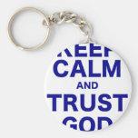 Guarde a dios de la calma y de la confianza llaveros