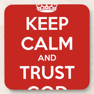 Guarde a dios de la calma y de la confianza posavasos de bebidas