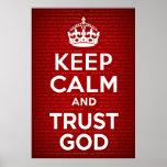 Guarde a dios de la calma y de la confianza poster