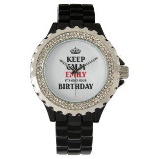 Guarde a Emily tranquila que es solamente su Relojes