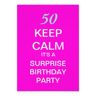 """GUARDE a la 50.a fiesta de cumpleaños de la Invitación 5"""" X 7"""""""