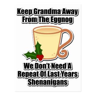Guarde a la abuela lejos de la yema tarjetas postales