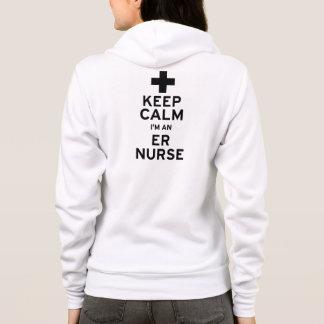 Guarde a la enfermera tranquila del ER Sudadera