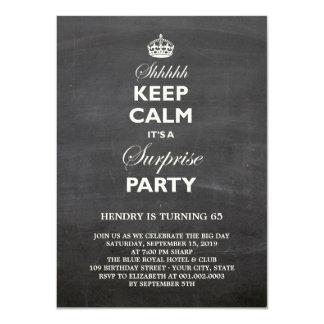 Guarde a la fiesta de cumpleaños divertida anuncio