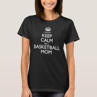 Guarde a la mamá tranquila del baloncesto playera