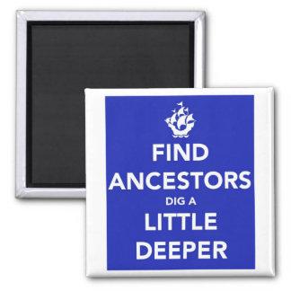 Guarde a los antepasados tranquilos del hallazgo d imán cuadrado